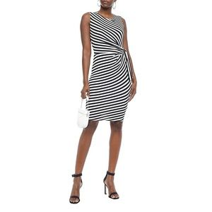 Bailey 44 Ruched Striped Stretch-Jersey Dress S
